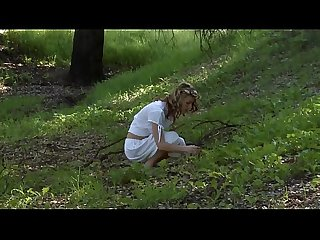 Young girl masturbate outside 1