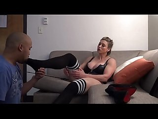 Rapture big tit muscle girl foot worship and spanking