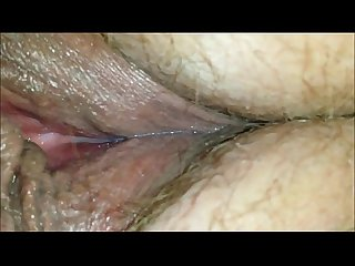 Wet milf pussy close up