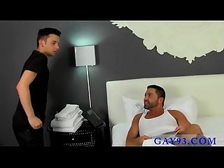 Twink video the fellow delivers towels as requested but when wild