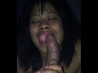 Milf love sucking on a bbc
