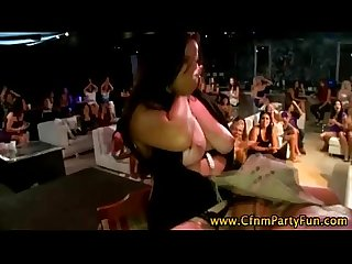 Cfnm amateur party girls suck stripper cock