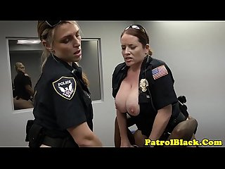 Black thug cock raided by mean femdom cops