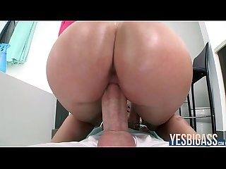 Stevie shae oils up her perfect ass for a hardcore fuck