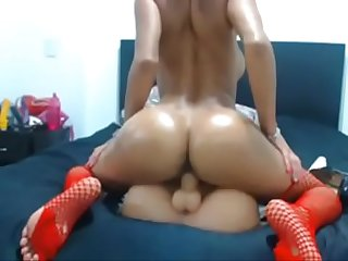 Busty latina fucking dildo on cam watch more at www angelzlive com
