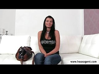 Bubbly euro babe jen confidently tries the adult industry