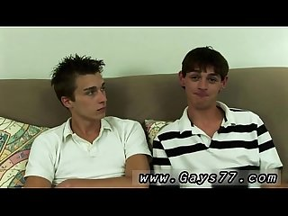 Biracial boys dick Futon spread and both fellows lubricated up and