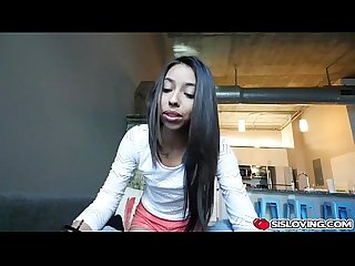 Jasmine Summers first blowjob is not bad at all