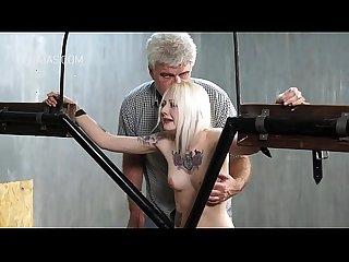 Blonde slaves punished
