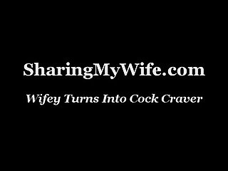 Wifey turns into cock craver