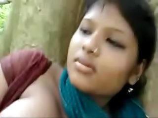 Amateur indian girl likes it when her tits get some attention