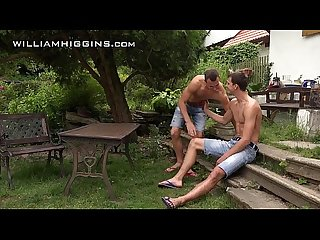 Williamhiggins raw fuck duo in the garden