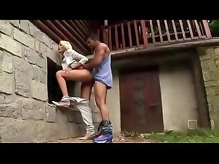 Respectable blonde got fucked by a stranger in the alley