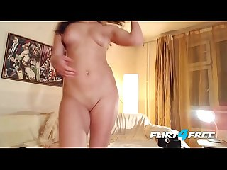 Flirt4free cam babe moni fox fingers her pussy hard wearing high heels