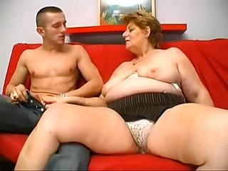 A big blonde granny from desiresbbw com