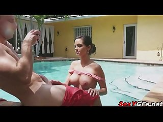 Ashley Sinclair - Brunette's Pool-Hopping Fuck