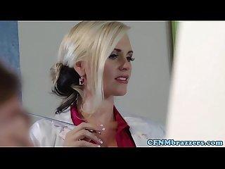 Cfnm art teachers getting facial lesson