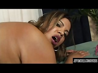 BBW Lady Spice Sucks and Fucks a Guy and Sits on His Head in Between