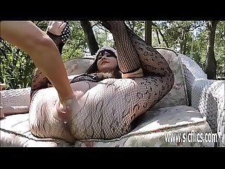 Double fist and dildo fucking Julies giant pussy