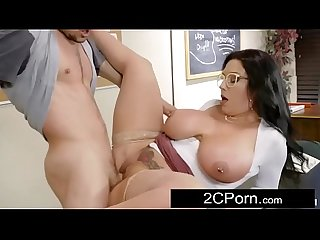 Curvy big tit teacher sheridan love wants some college cock