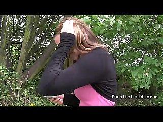 Amateur czech teen fucking in public pov