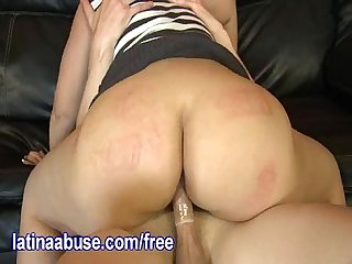Latina with a fat ass gets fucked