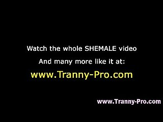 tranny shemale fuck and facial