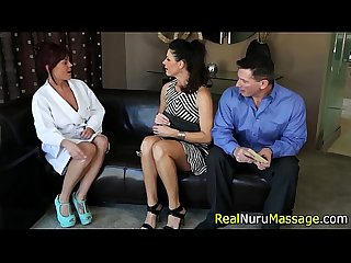 Fetish masseuse blow cock