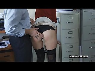 Secretary S ass licked and fucked by boss