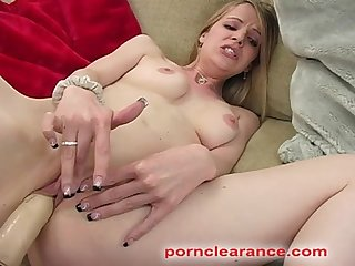 Anita blue pussy probed with fucking machine
