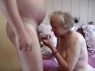 Very old grandma having fun amateur older
