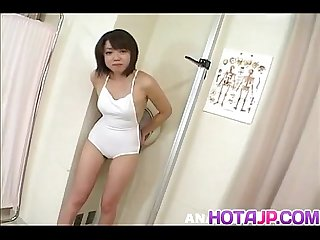Ichiko asian gets vibrators in shaved crack and asshole same time