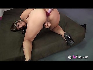 Cindy foxy S double dildo insertion