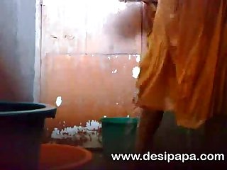 mature indian bhabhi in shower