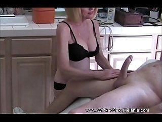Wicked sexy milf handjob