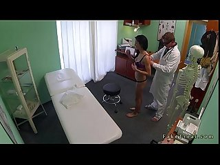Tattooed brunette fucked by doctor in fake hospital