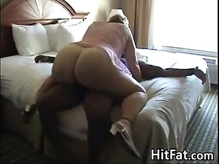 Fat White Woman On A Big Black Cock