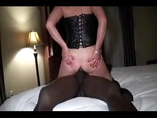 Wife has Anal Orgasm with Bbc while husband films
