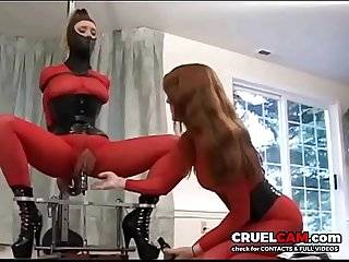 Wow! Slave has orgasm after orgasm! www.CruelCam.com