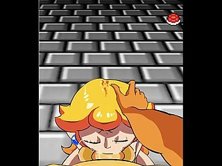 Super Mario: Princess Peach Gives Bowser A Blowjob