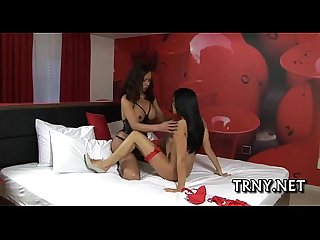 Young tranny uses her jock