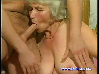 Granny fuck with young guy