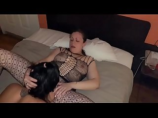 Girl on girl pussy eatting and strap on