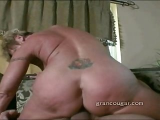 Old granny fucking and sucking
