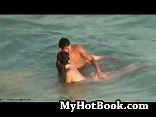 Beach couple voyeur