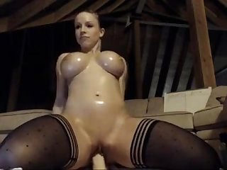 Extremely hot blonde rides big dildo on sexydatingcams com
