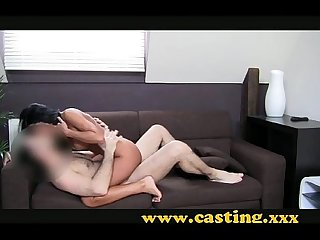 Casting mega tanned czech girl is desperate for a job