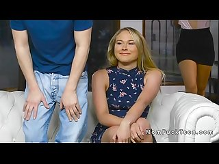 New stepmom fucks teens upstairs