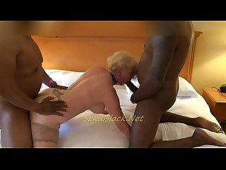 Seka loves interracial plays with two big black bulls