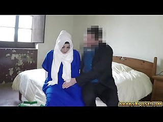 Poor lonely arab sucks a big thick cock deep throato see0